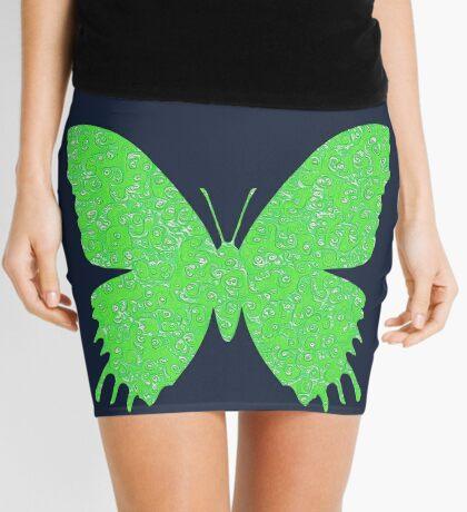#DeepDream Lime Green color Butterfly Mini Skirt