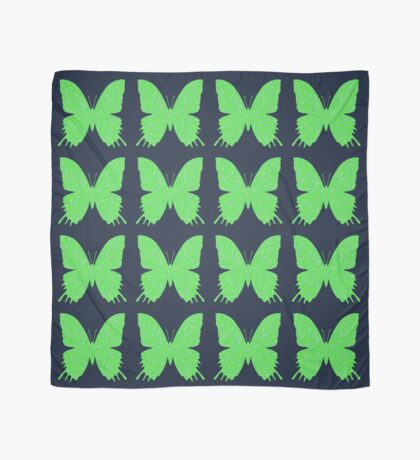 #DeepDream Lime Green color Butterfly Scarf