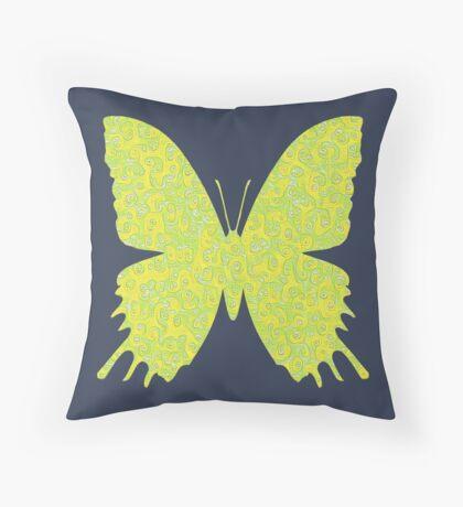 #DeepDream Lemon Lime color Butterfly Throw Pillow