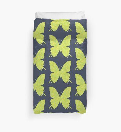 #DeepDream Lemon Lime color Butterfly Duvet Cover