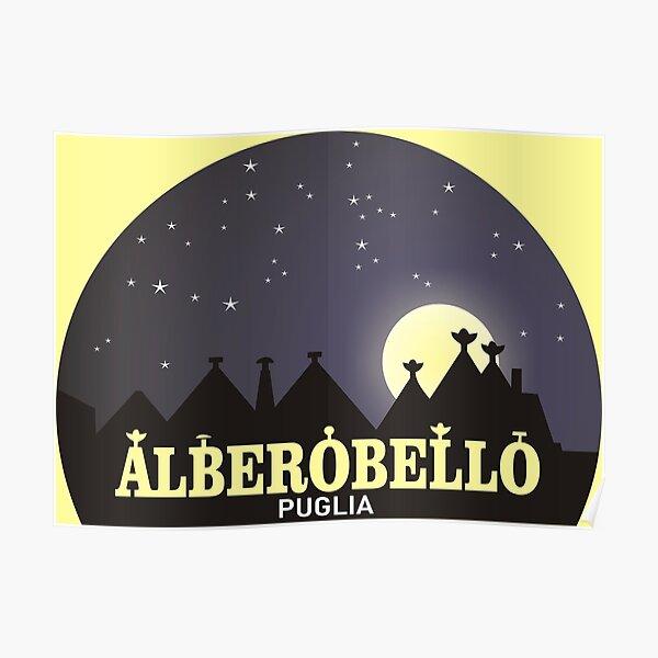 Puglia Alberobello trulli Poster