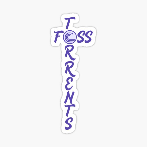 FOSS Torrents Logo (T Shape) Sticker