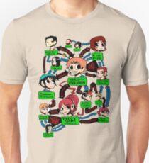 Scott pilgrim relationships Slim Fit T-Shirt