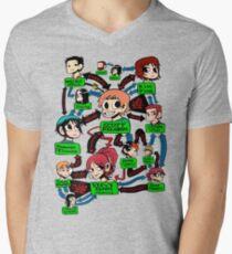 Scott pilgrim relationships Men's V-Neck T-Shirt