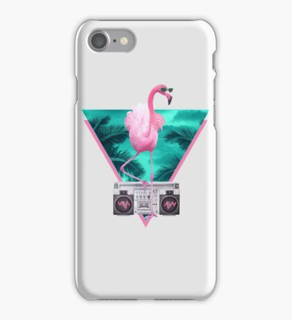Miami flamingo iPhone Case/Skin