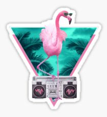 Miami flamingo Sticker