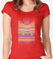 stripe Women's Fitted Scoop T-Shirt