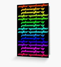 Another Dimension (neon) Greeting Card