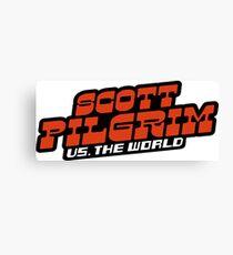 Scottpilgrim vs the world logo Canvas Print