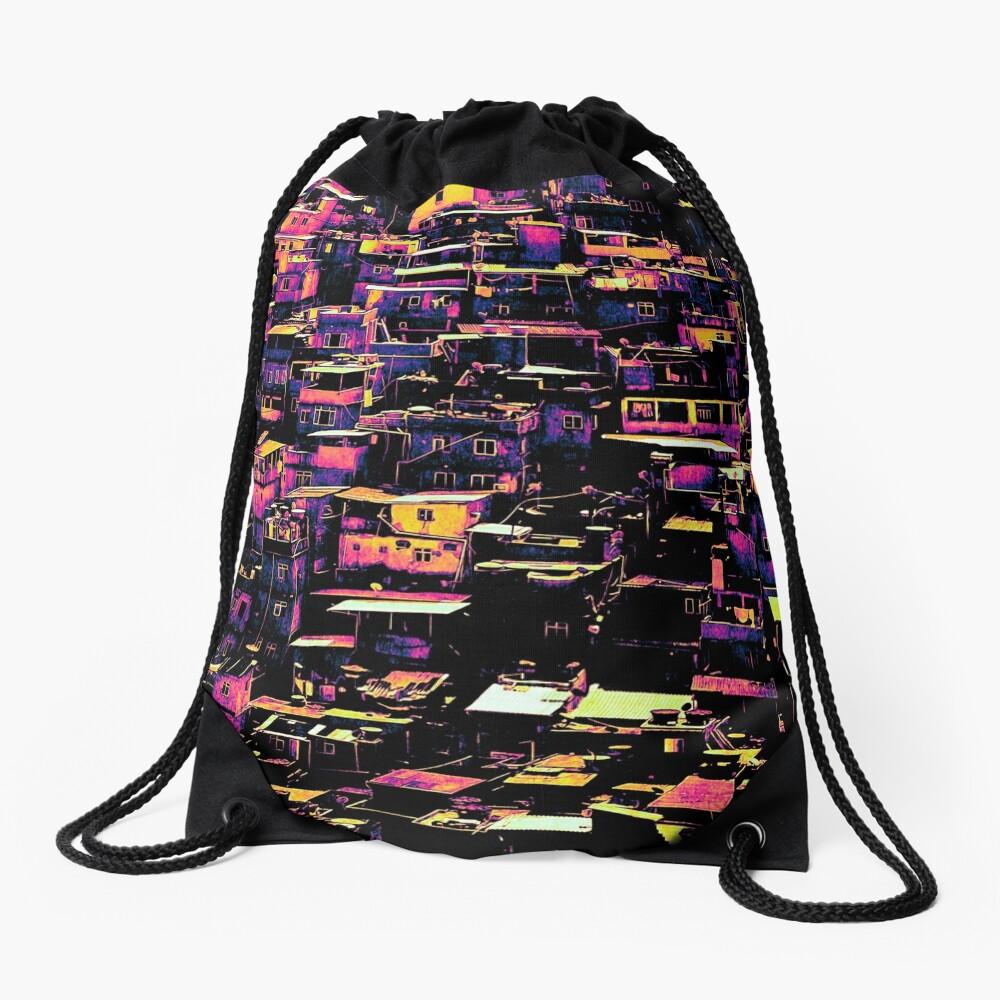 Homes On A Hill Pop Art Drawstring Bag