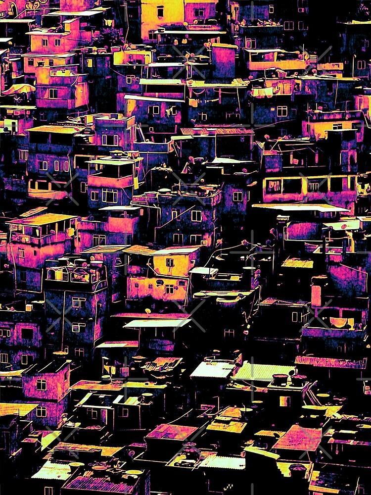 Homes On A Hill Pop Art by perkinsdesigns
