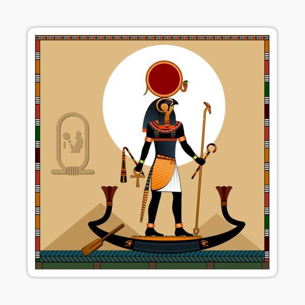 Religion of Ancient Egypt. The Sun God Ra. Sticker