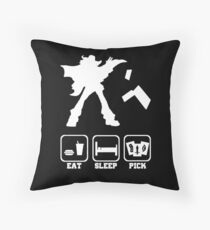 Eat sleep Pick 2 Throw Pillow