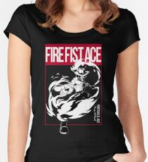 THIS IS MANGA - FIRE FIST ACE Women's Fitted Scoop T-Shirt