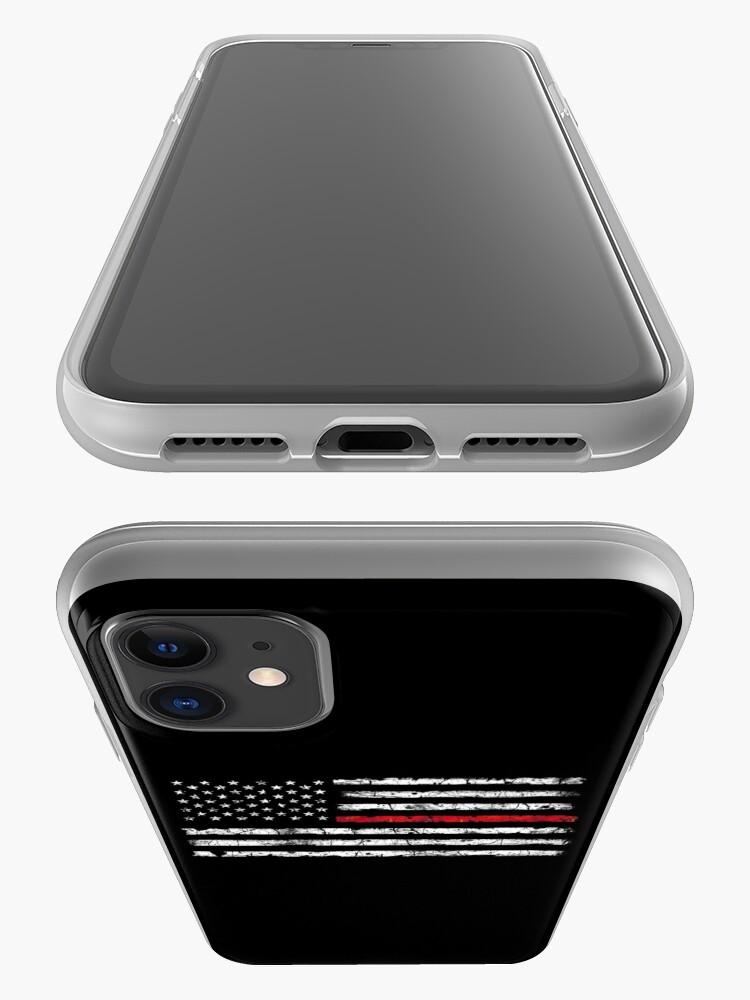 Vista alternativa de Funda y vinilo para iPhone Línea roja (blanca) V2