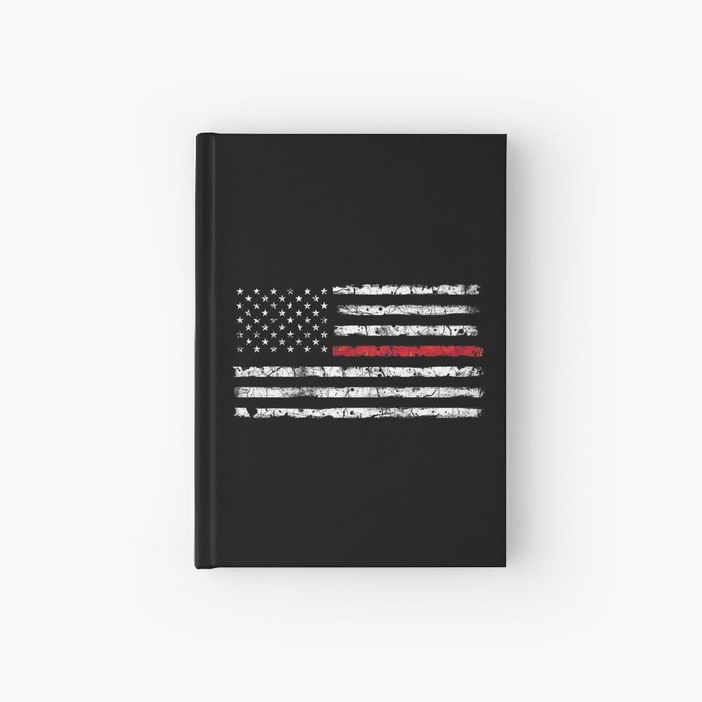 Línea roja (blanca) V2 Cuaderno de tapa dura