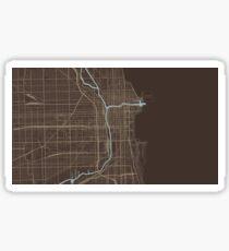 Chicago Map (Autumn) Sticker