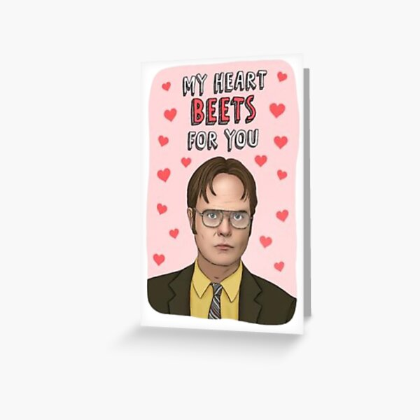 Dwight schrute greeting card, valentines card, funny valentines card, funny greetings card, the office, joke card, the office card Greeting Card