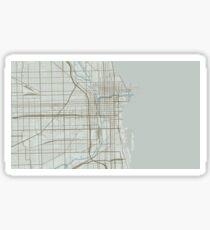 Chicago Map (Winter) Sticker