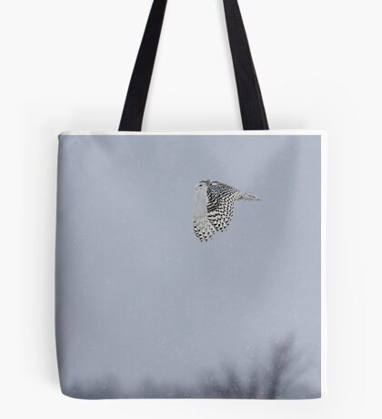 Snowy owl...high above the treetops Tote Bag