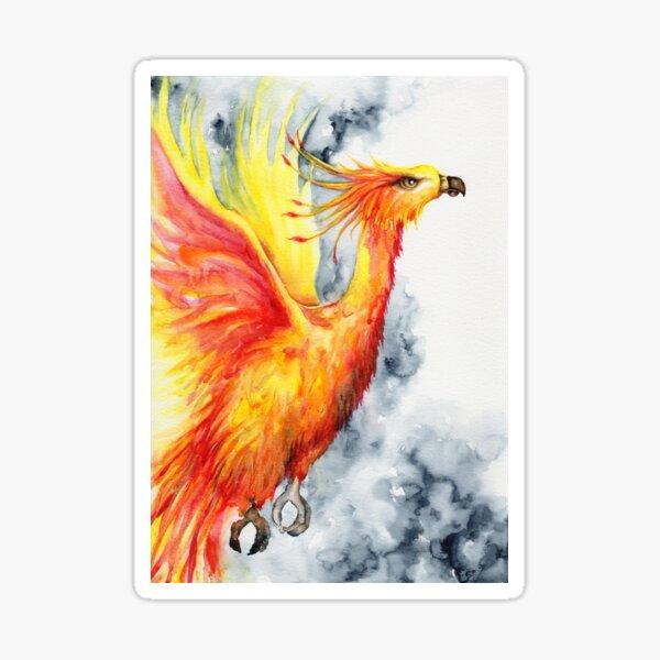 Fiery Phoenix Sticker