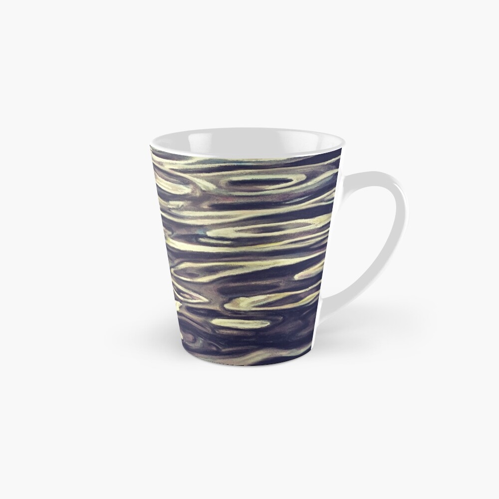 Black and White Pastel Water Abstract Landscape Winter Swirls Mug