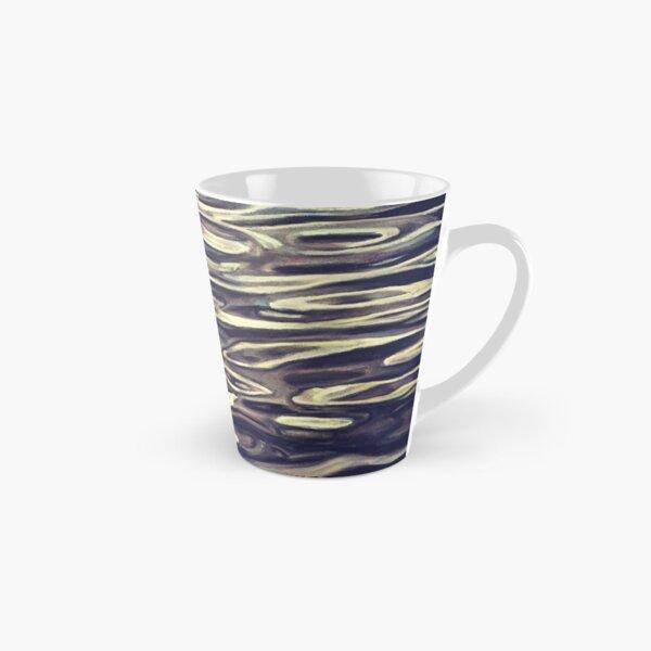 Black and White Pastel Water Abstract Landscape Winter Swirls Tall Mug
