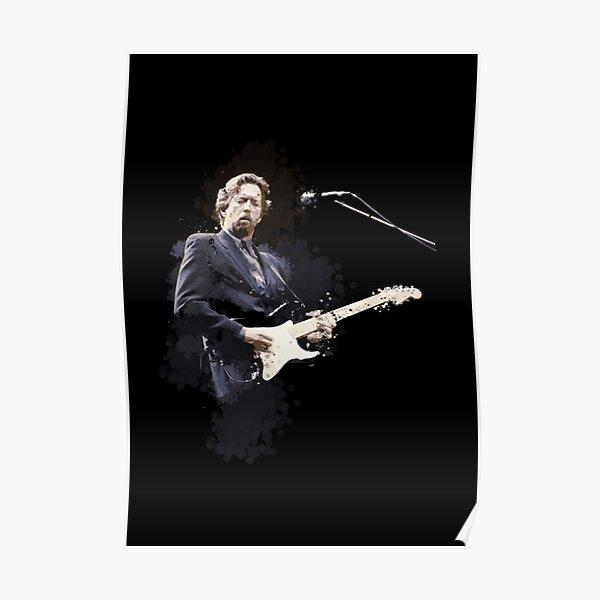 Peinture numérique de la légende Eric Clapton Poster