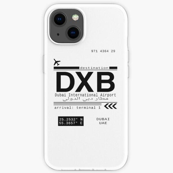 DXB Dubai International Airport Call Letters iPhone Soft Case