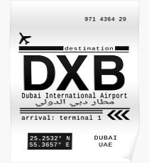 DXB Dubai International Airport Call Letters Poster