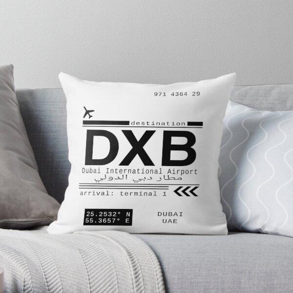 DXB Dubai International Airport Call Letters Throw Pillow