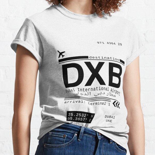 DXB Dubai International Airport Call Letters Classic T-Shirt