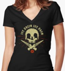 Jus drein jus daun Women s Fitted V-Neck T-Shirt 60537e576
