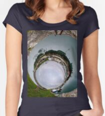 Hurry Head Harbour, Carnlough, County Antrim - Sky In Women's Fitted Scoop T-Shirt