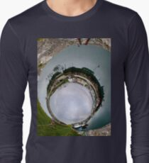 Hurry Head Harbour, Carnlough, County Antrim - Sky In Long Sleeve T-Shirt