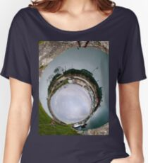 Hurry Head Harbour, Carnlough, County Antrim - Sky In Women's Relaxed Fit T-Shirt