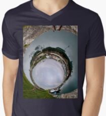 Hurry Head Harbour, Carnlough, County Antrim - Sky In Men's V-Neck T-Shirt