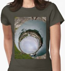 Hurry Head Harbour, Carnlough, County Antrim - Sky In Women's Fitted T-Shirt