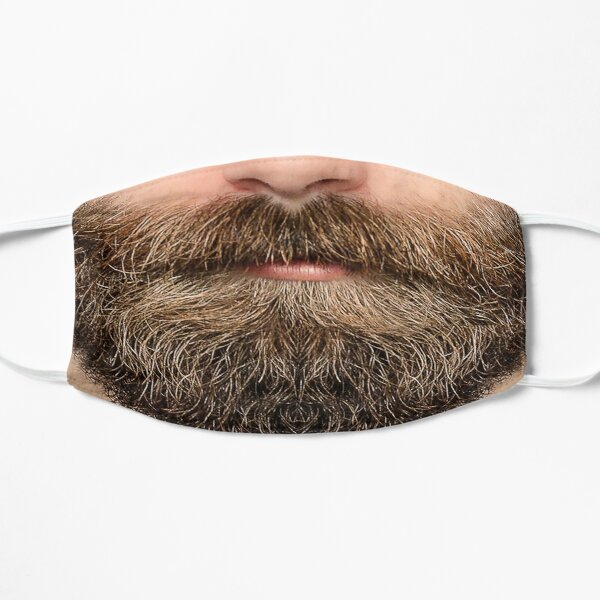 A luscious brown beard -  Mask only Flat Mask