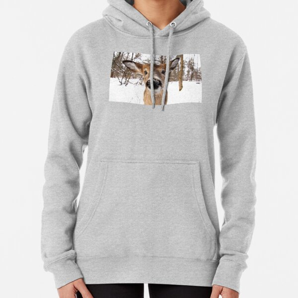 Nosey - White-tailed Deer Pullover Hoodie