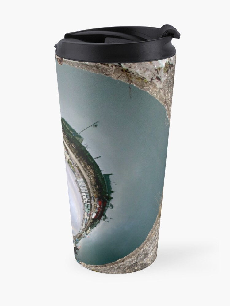 Alternate view of Hurry Head Harbour, Carnlough, County Antrim - Sky In Travel Mug