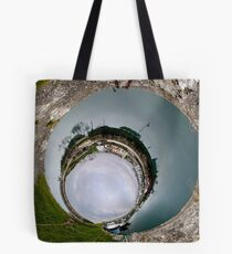Hurry Head Harbour, Carnlough, County Antrim - Sky In Tote Bag