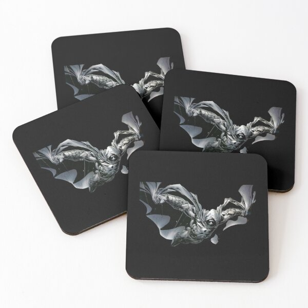 Night Bloody Moon Knight Funny Legends Coasters (Set of 4)