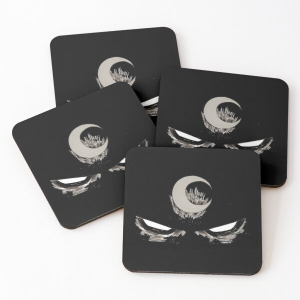 Moon Knight Night Bloody Funny Legends Coasters (Set of 4)