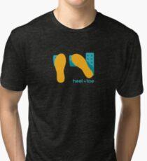 heel toe Tri-blend T-Shirt