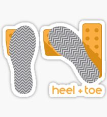 heel toe Sticker