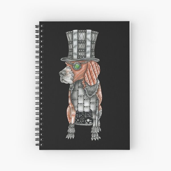 Nigel le Beagle Steampunk Cahier à spirale