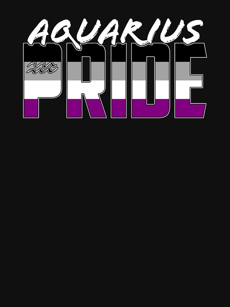 Aquarius Asexual Pride Flag Zodiac Sign by valador