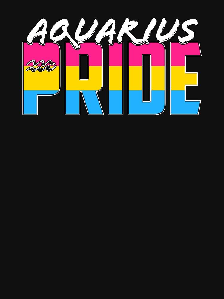 Aquarius Pansexual Pride Flag Zodiac Sign by valador