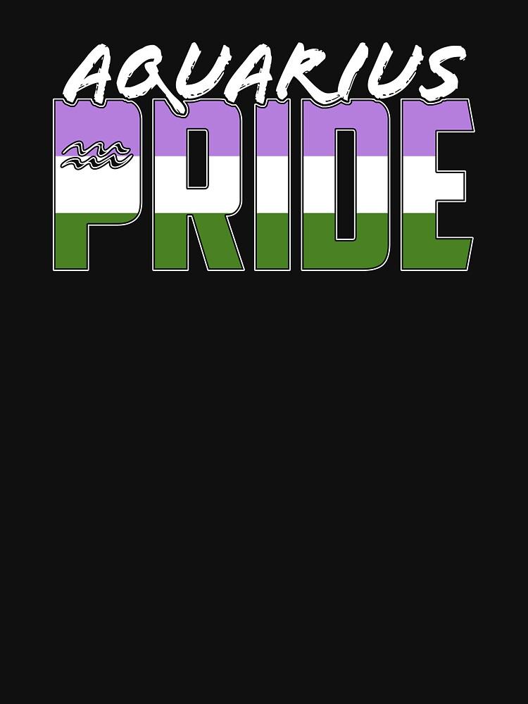 Aquarius Genderqueer Pride Flag Zodiac Sign by valador
